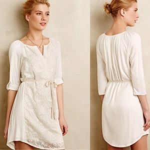 Tiny Paperwhites Embroidered Shirtdress